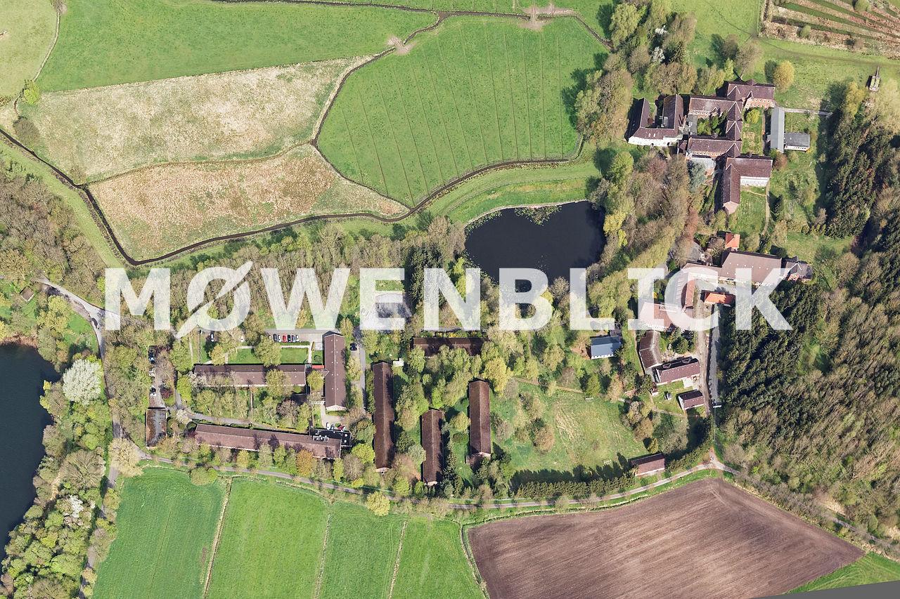 Kloster in Blankenburg senkrecht Luftbild
