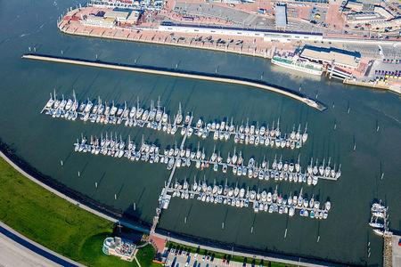 Luftaufnahme Yachthafen