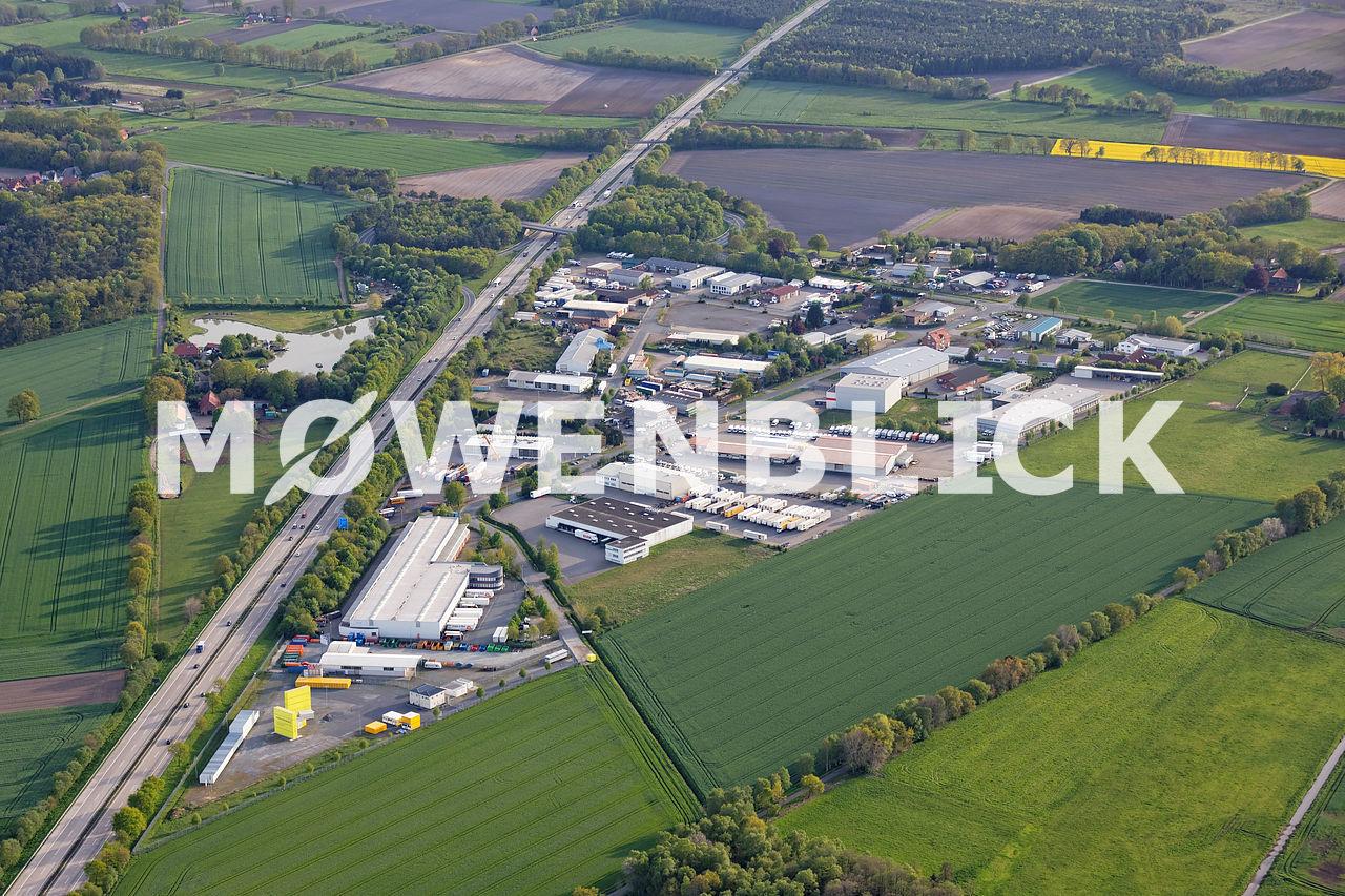 Gewerbegebiet Groß Ippener Luftbild