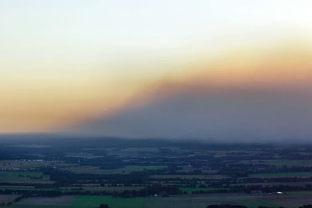 Luftaufnahme Moorbrand in Meppen