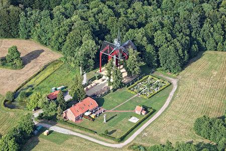 Luftaufnahme Kloster am Pilgerweg