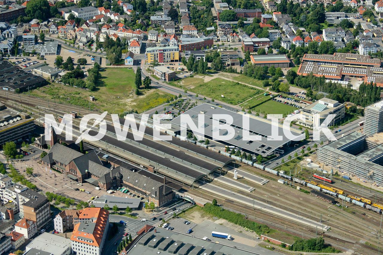Bahnhof und ZOB Luftbild