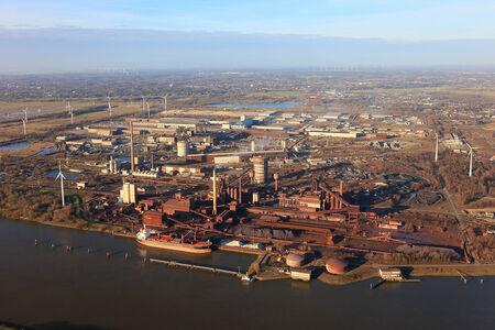 Luftaufnahme Stahlwerke Bremen