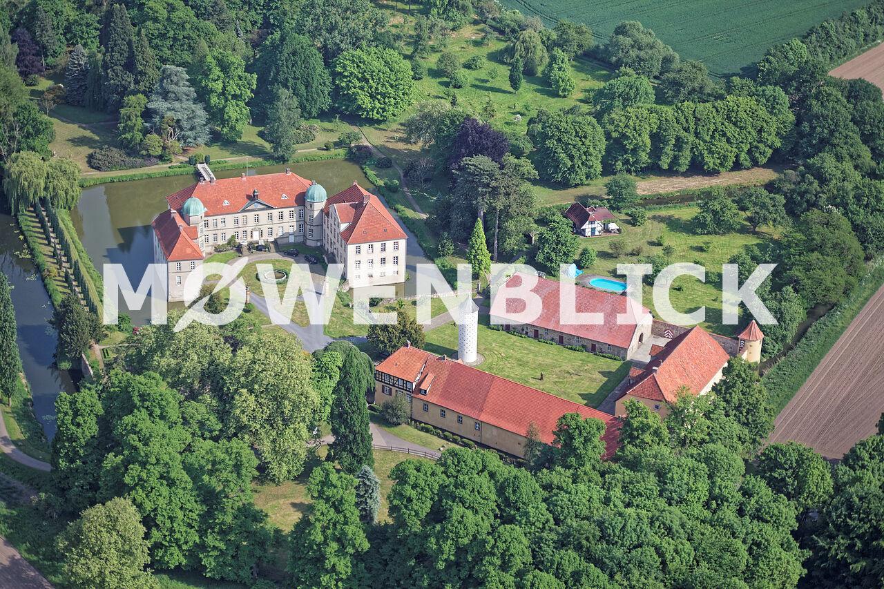 Hünnefeld Schloss Luftbild