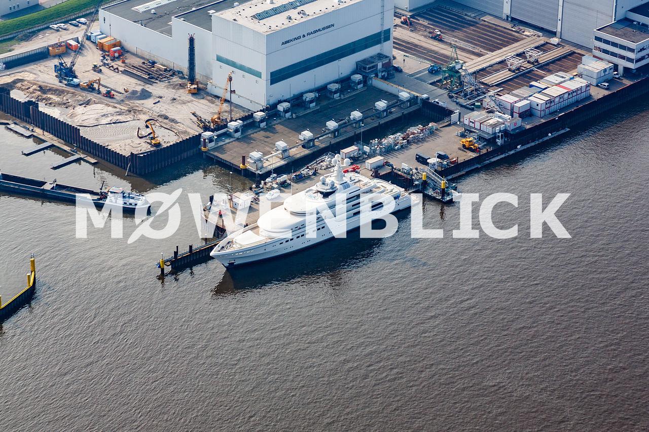 Abeking & Rasmussen Werft Luftbild