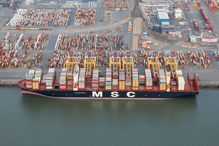 Luftaufnahme MSC MEDITERRANEAN SHIPPING COMPANY SA