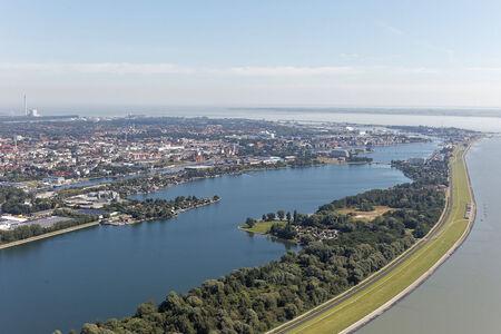 Luftaufnahme Banter Fischerdorf