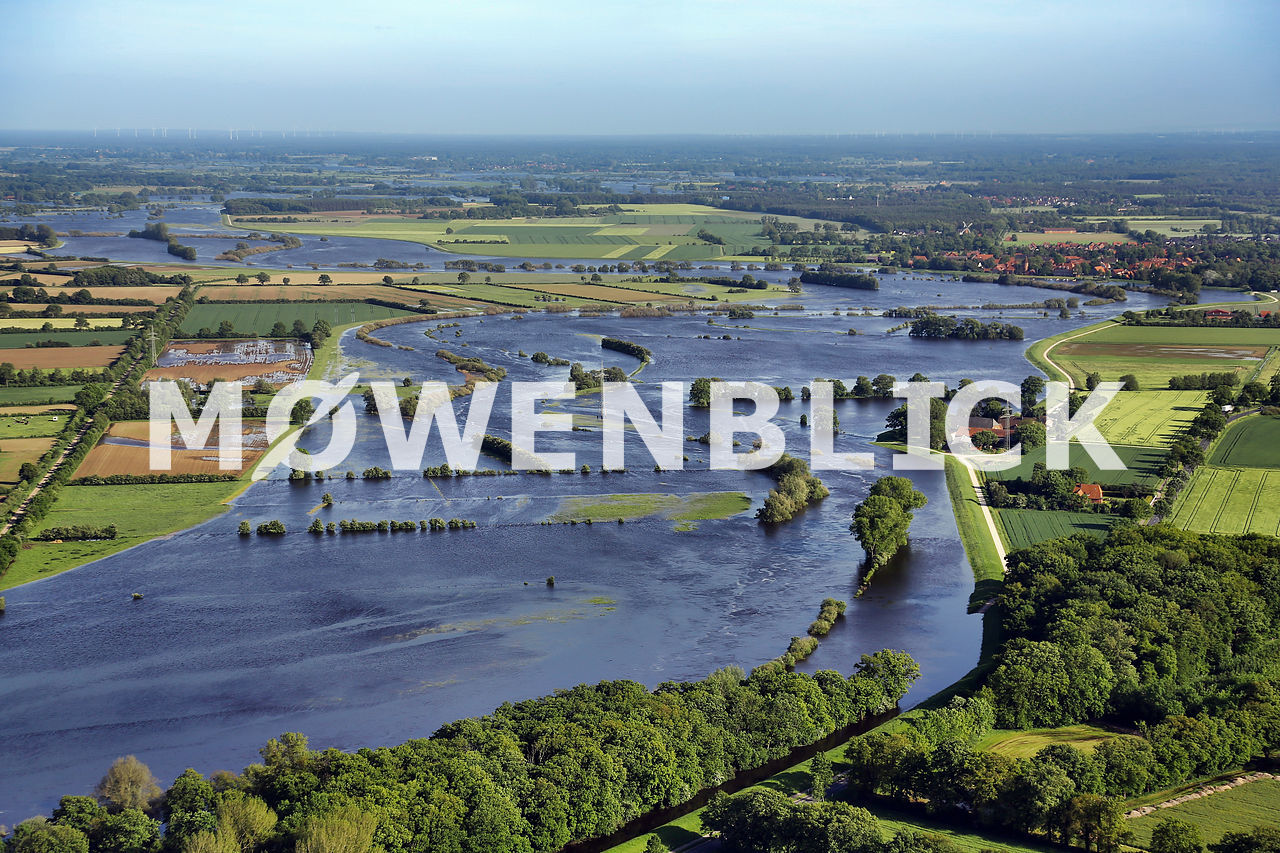Überschwemmung Aller Luftbild