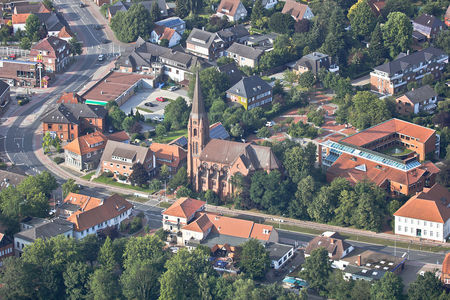 Luftaufnahme Christus Kirche