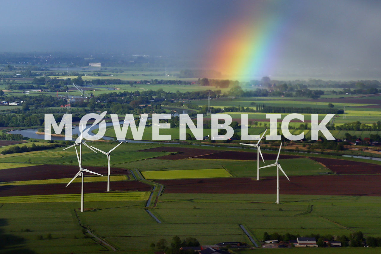 Windpark Regenbogen Luftbild