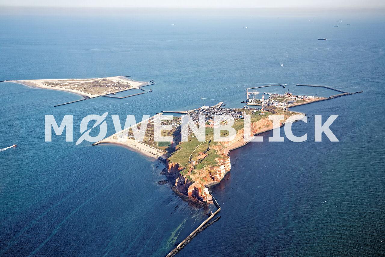 Insel mit Düne Luftbild