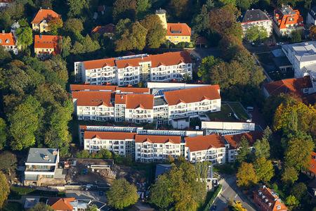 Luftaufnahme Diakonie-Wohnstift Sozialstation