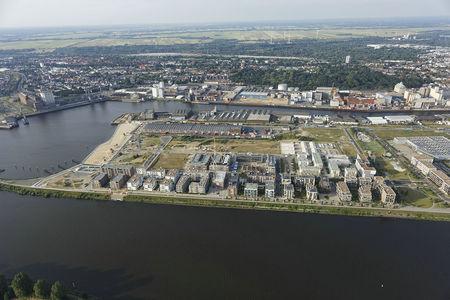 Luftaufnahme Überseestadt Nord