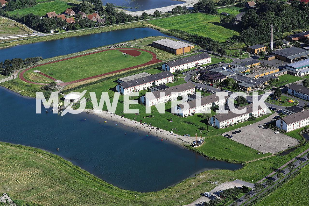 Dorf Wangerland Luftbild