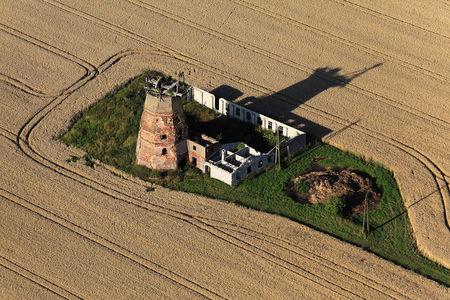 Luftaufnahme Windmühle Hinterm Dorf