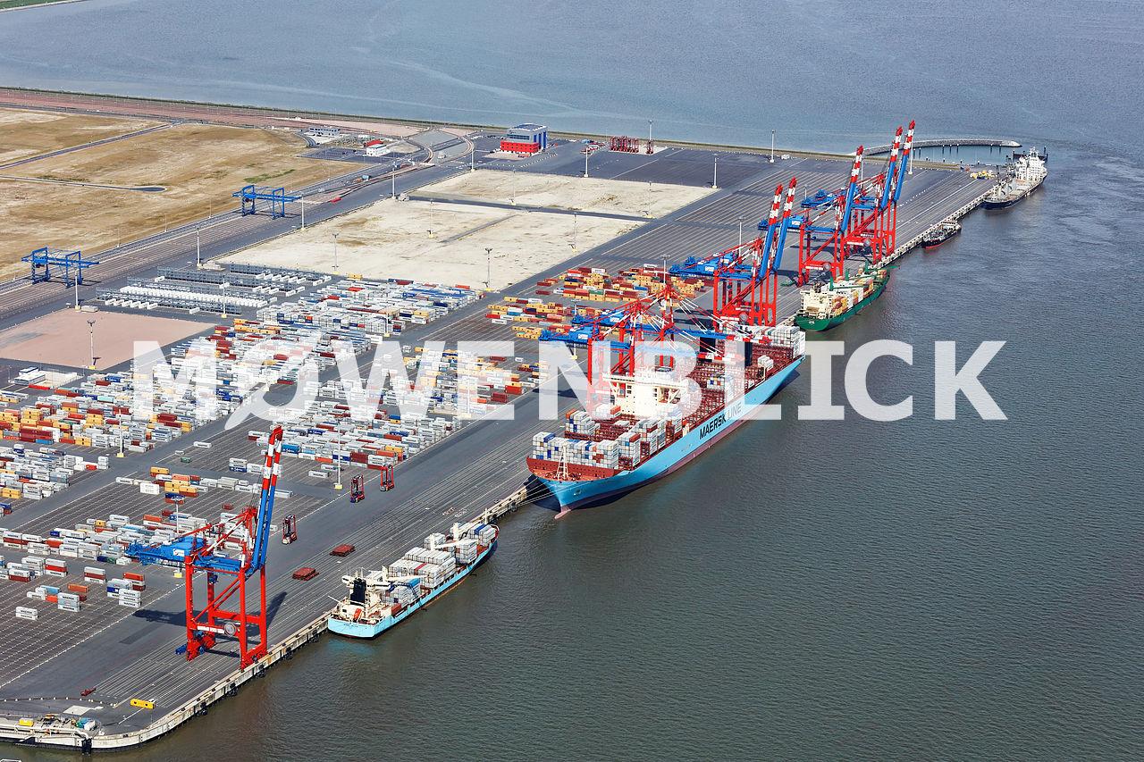Schiffe am JWP Luftbild