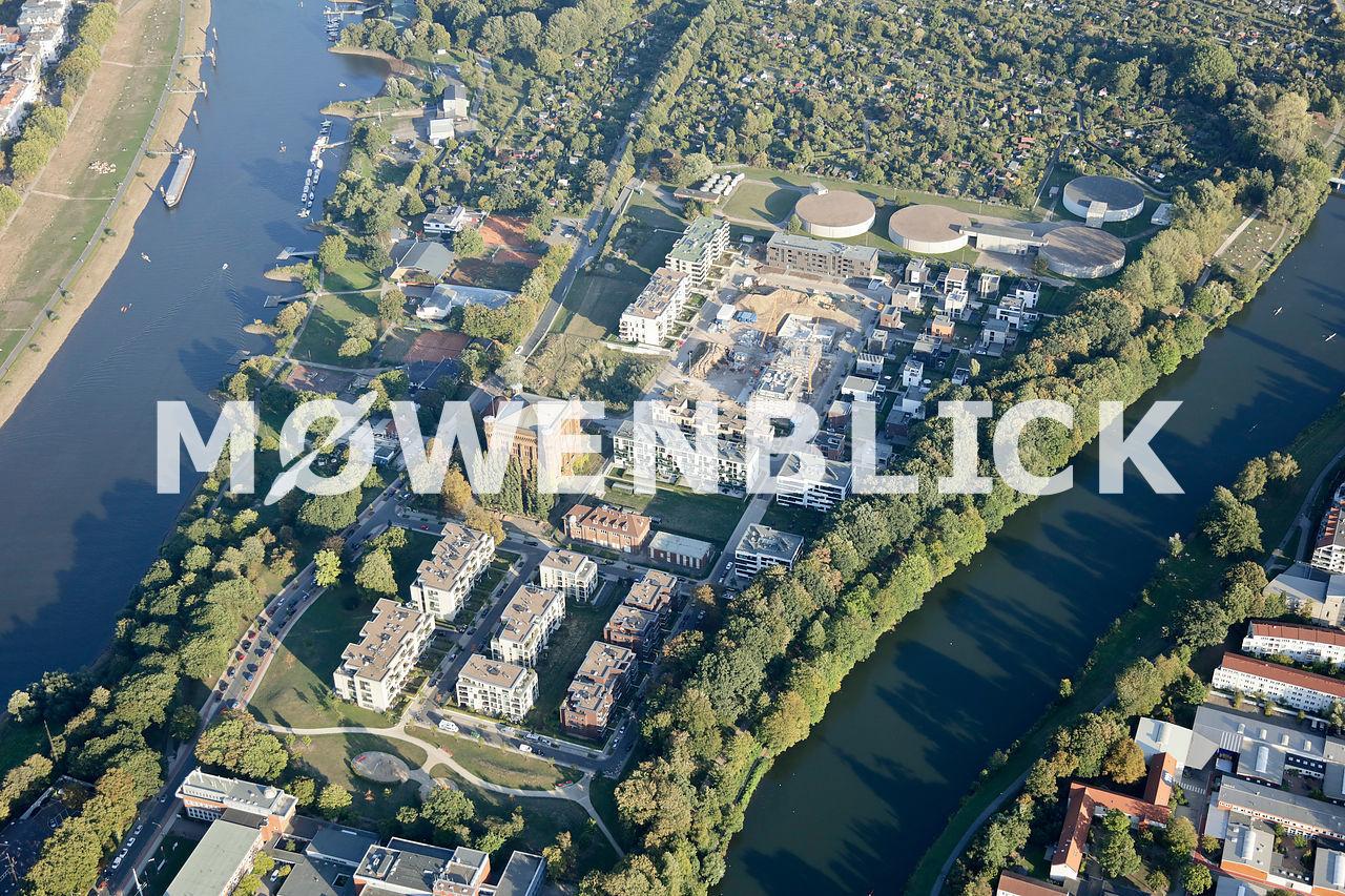 Wasserkunst Stadtwerder Luftbild