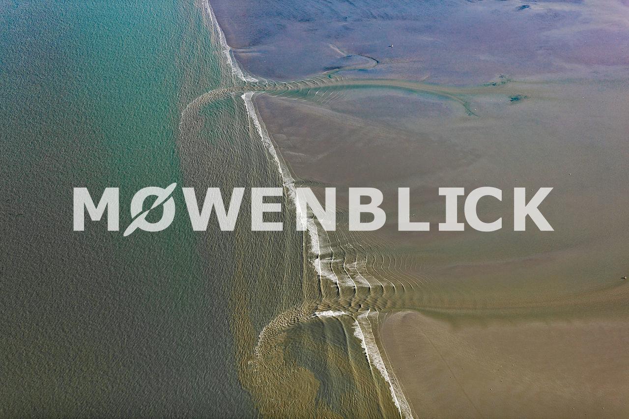 ablaufendes Wasser Luftbild