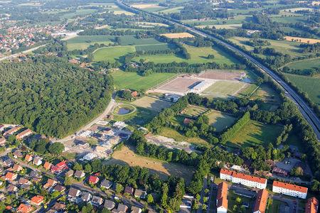 Luftaufnahme Sportplatz