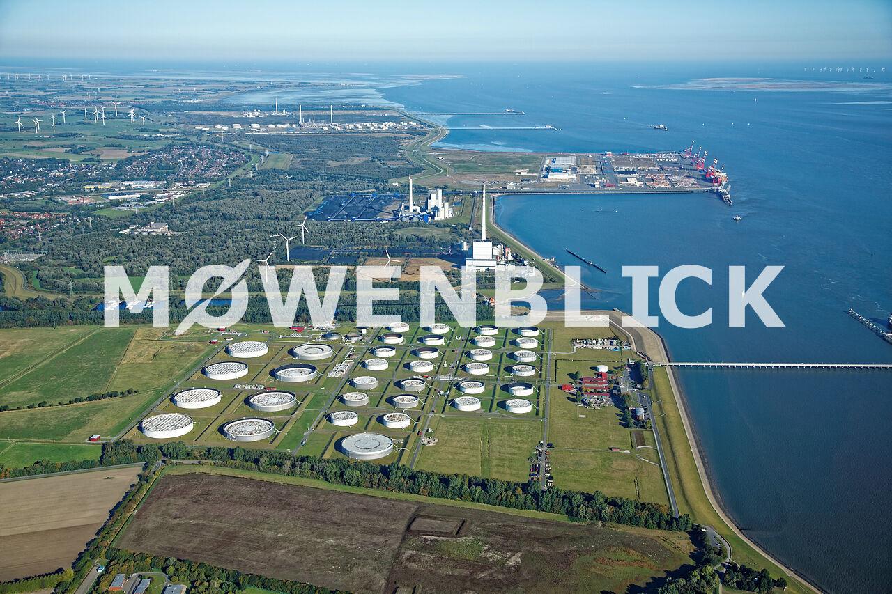 Öllager Luftbild