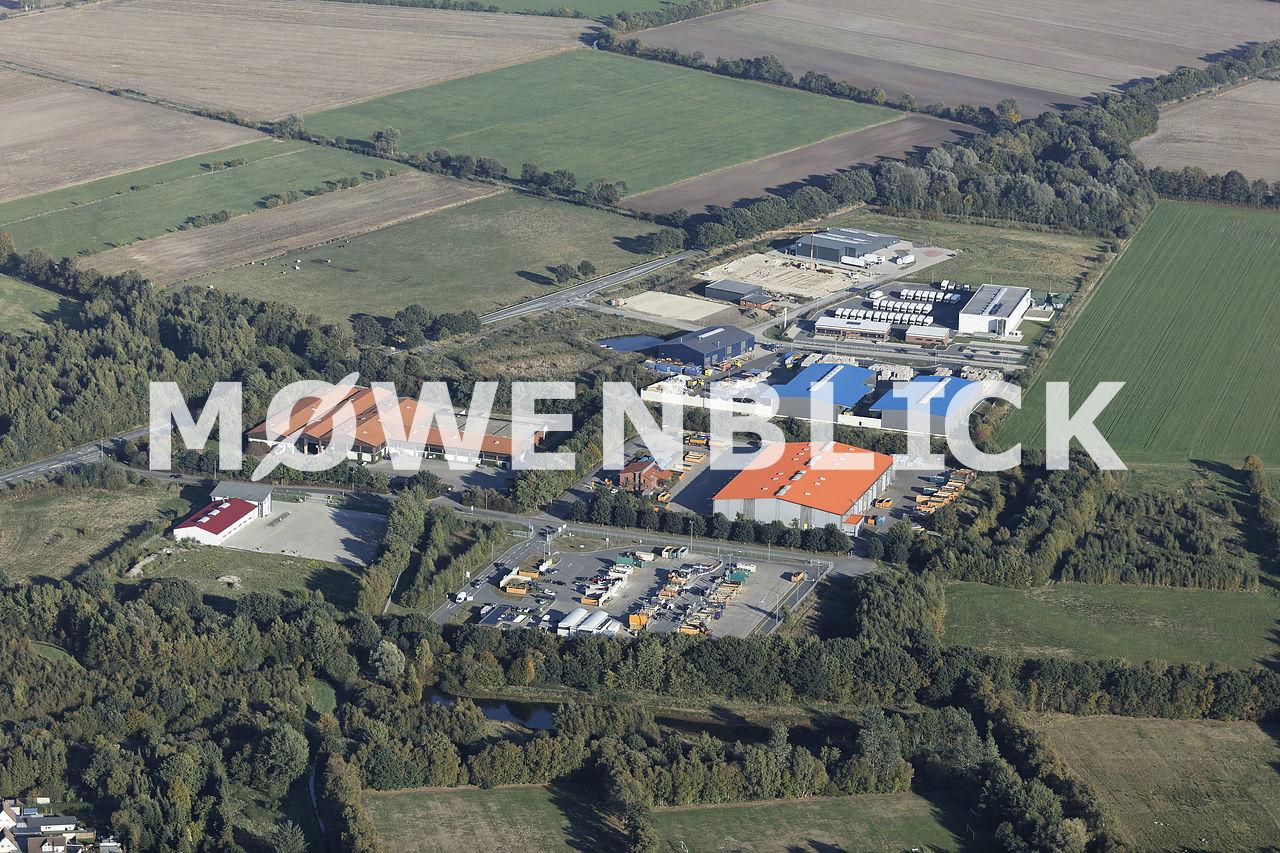 Gewerbe Holler Landstraße Luftbild
