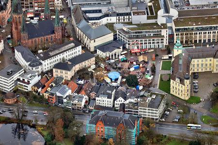 Luftaufnahme Weihnachtsmarkt