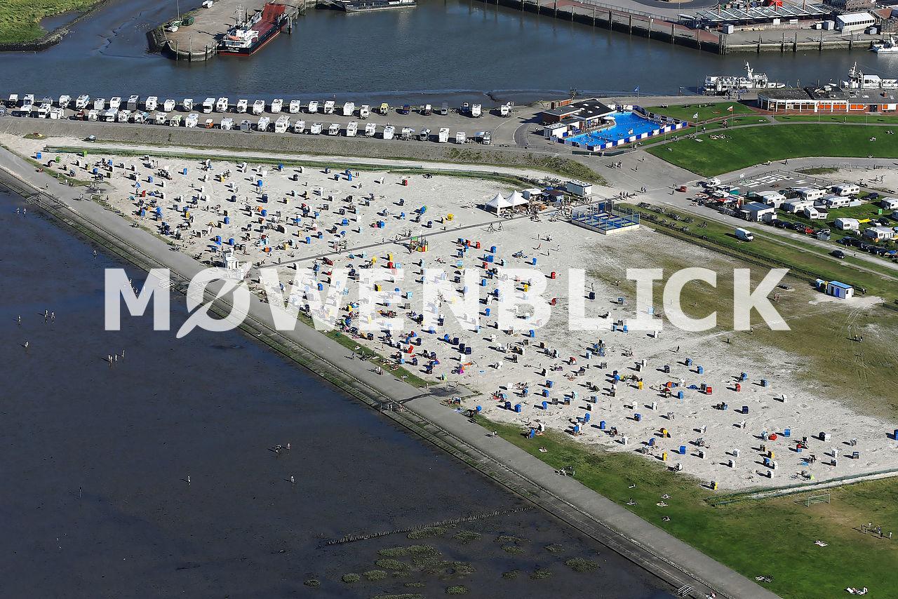 Strand Harlesiel Luftbild