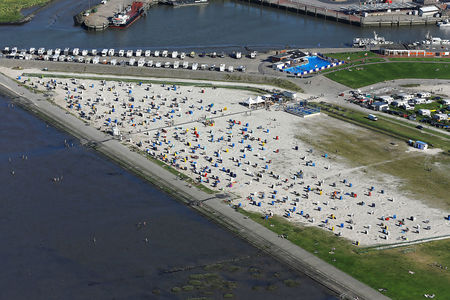 Luftaufnahme Strand Harlesiel