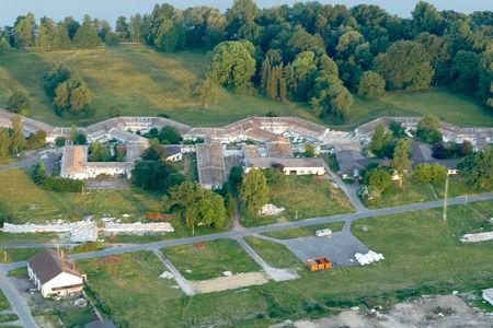 Luftaufnahme Krankenhausabriss