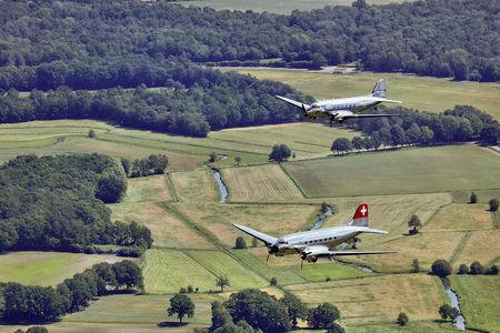 Luftaufnahme Rosinenbomber über Ganderkesee