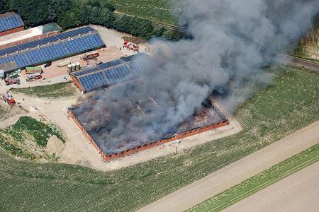 Luftaufnahme Brand