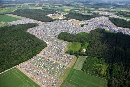 Luftaufnahme Hurricane Festival