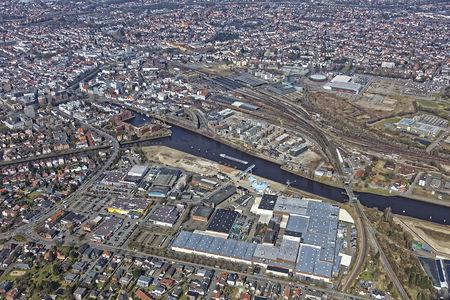 Luftaufnahme Hafenpromenade