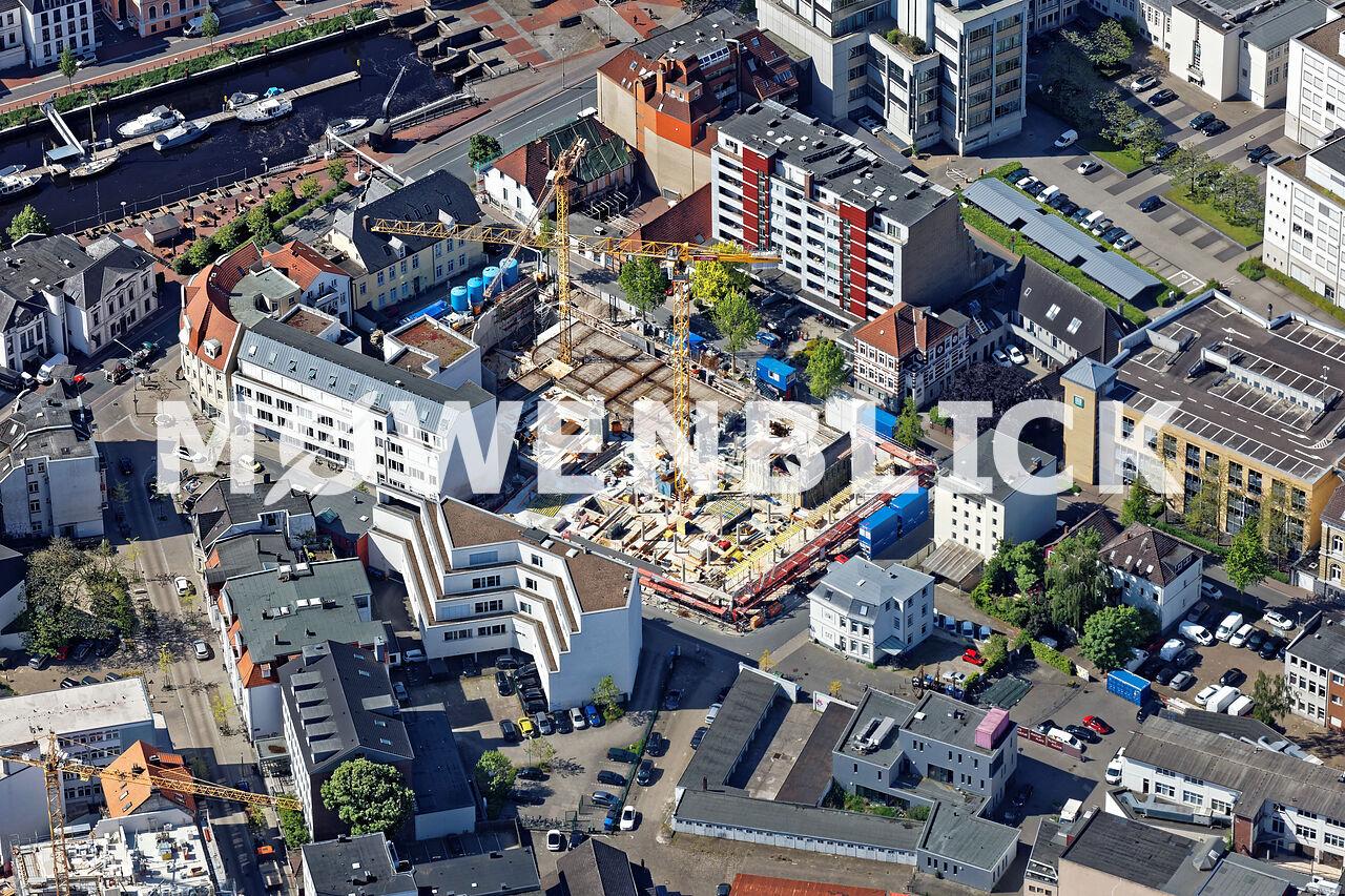 Bauprojekt Drei Höfe Luftbild