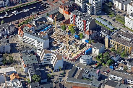 Luftaufnahme Bauprojekt Drei Höfe