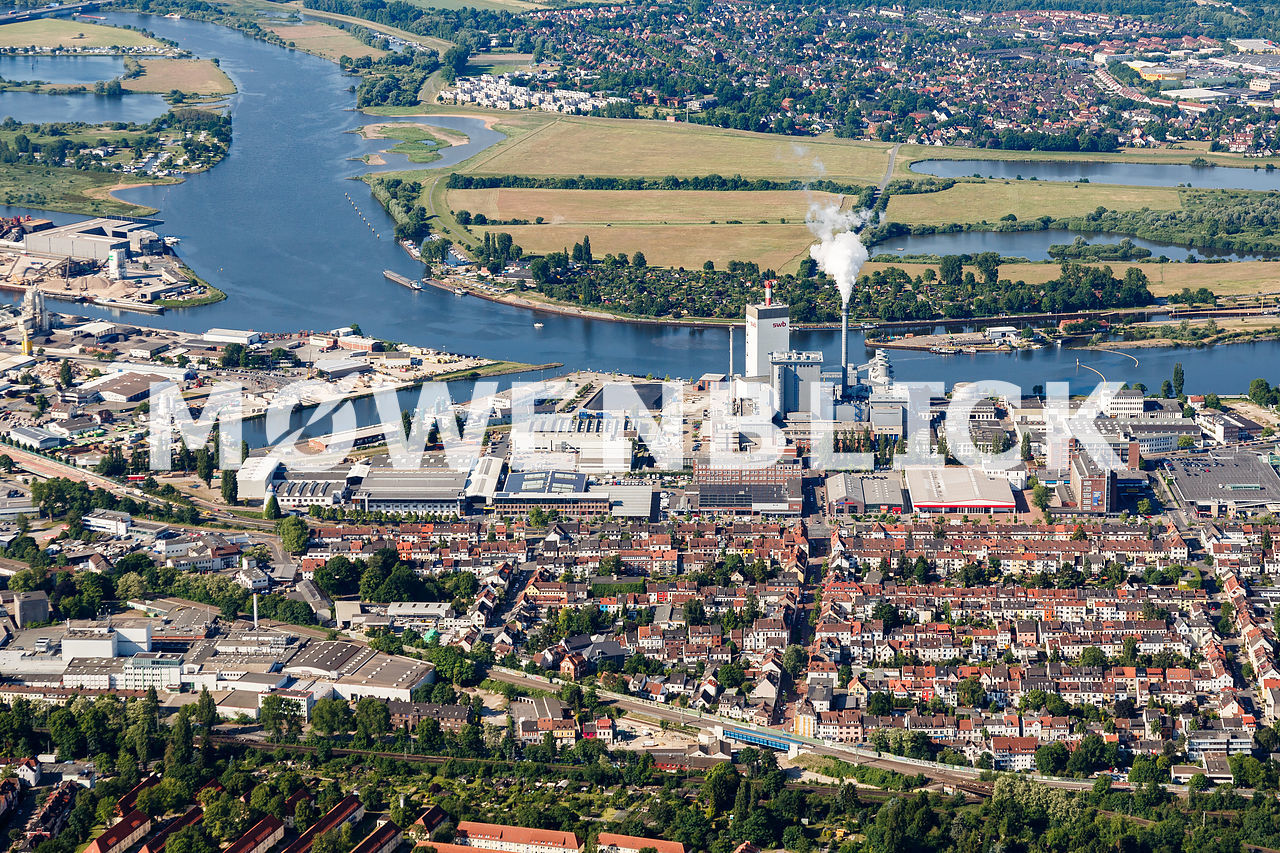 Kraftwerk SWB Luftbild