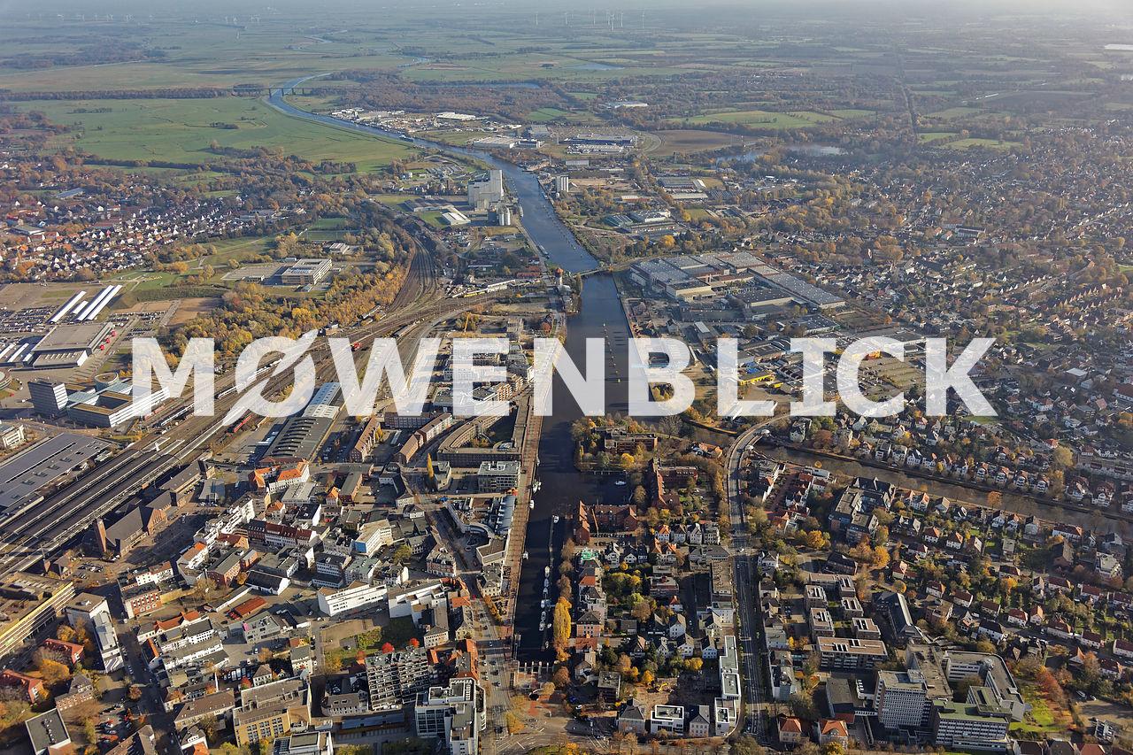 Hafen Hunte Luftbild