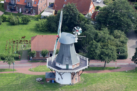 Luftaufnahme Zwillingsmühle Mühlenstraße