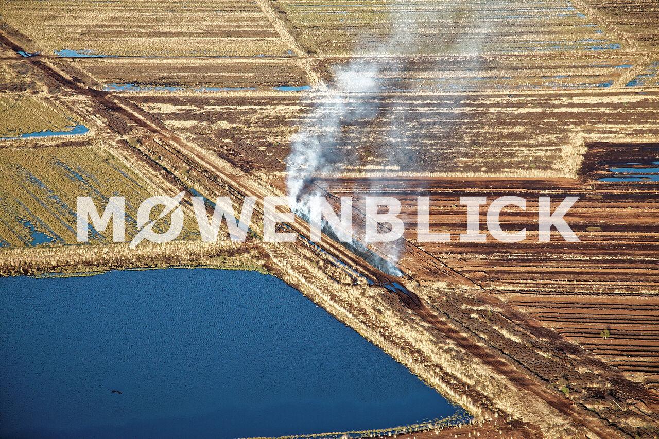 Brennendes Moor Luftbild