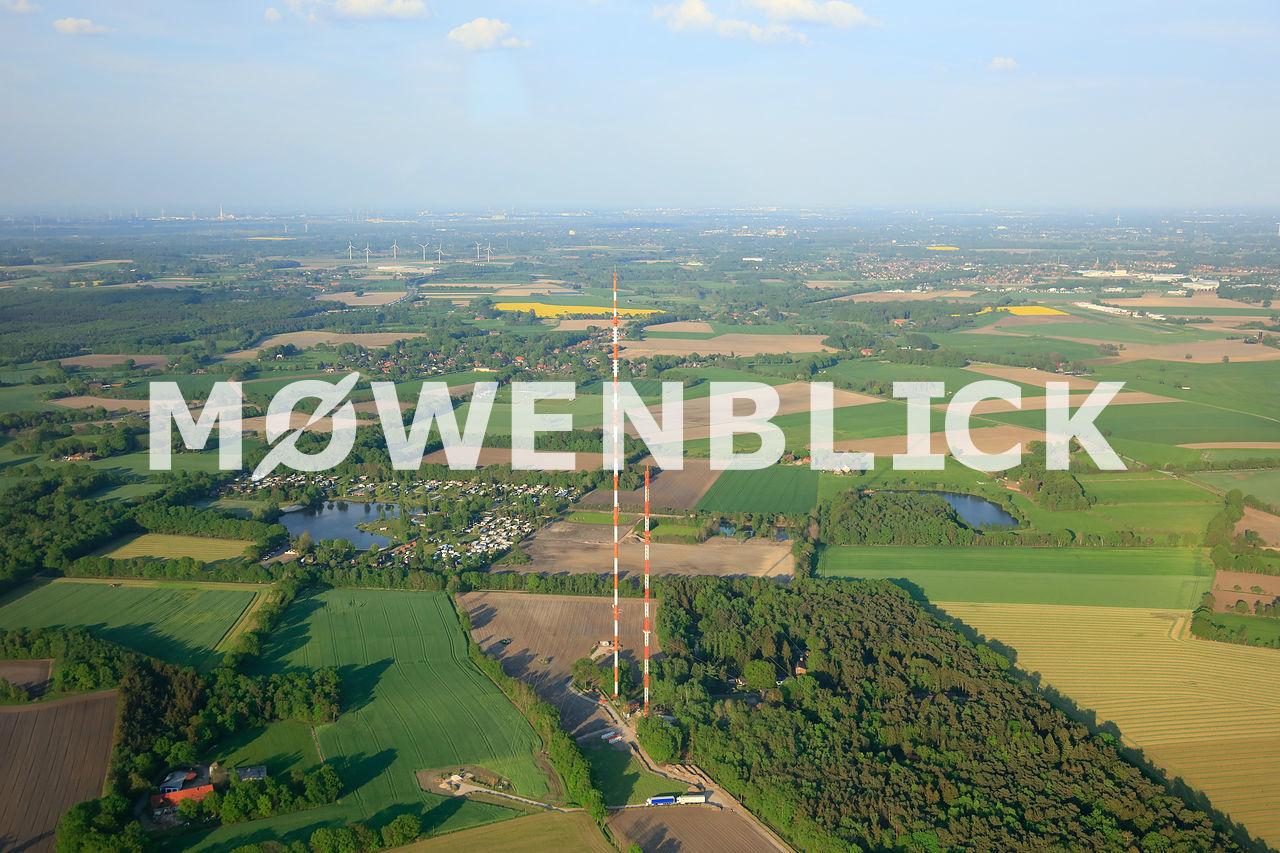 Baustelle NDR Sender Steinkimmen Luftbild