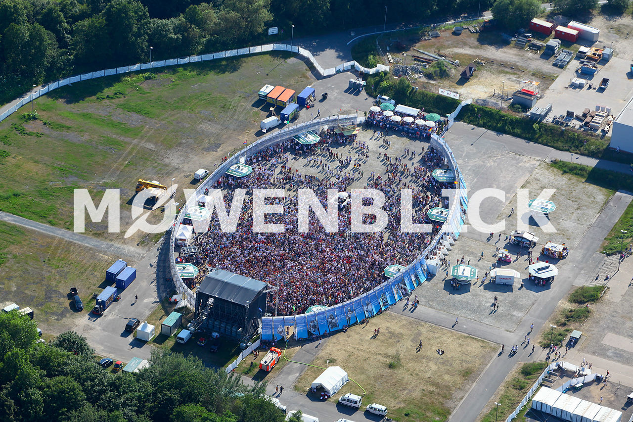 Public Viewing Luftbild