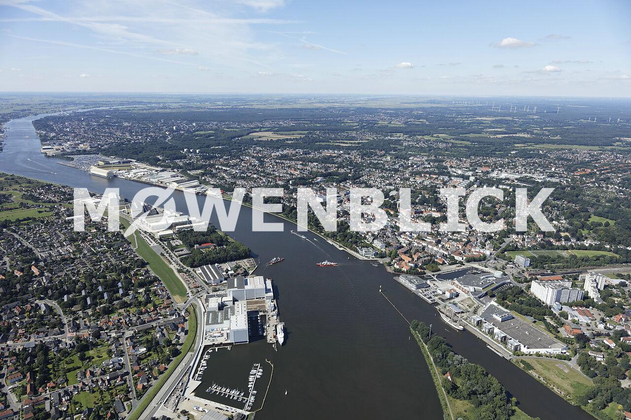 Fährstelle Weser Luftbild