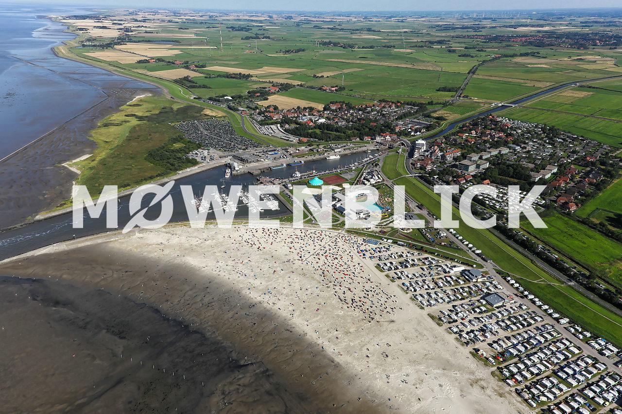 Bensersiel Gesamtaufnahme Luftbild