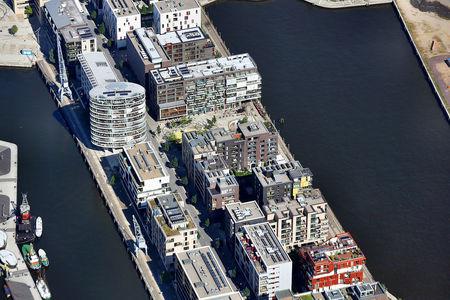 Luftaufnahme Sandtorhafen