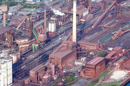 Luftaufnahme Stahlwerk