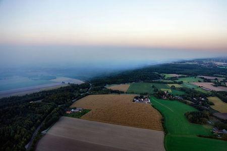 Luftaufnahme Moorbrandqualm