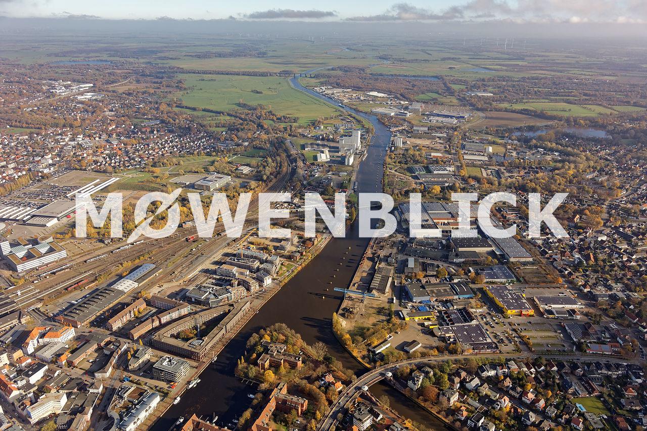 Neubau Hafen Hunte Oldenburg Luftbild