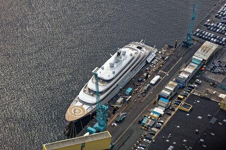 Luftaufnahme Yacht