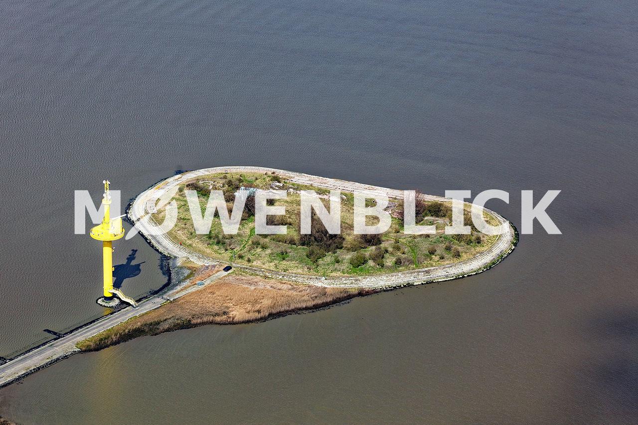Watt Insel Langlütjen Luftbild