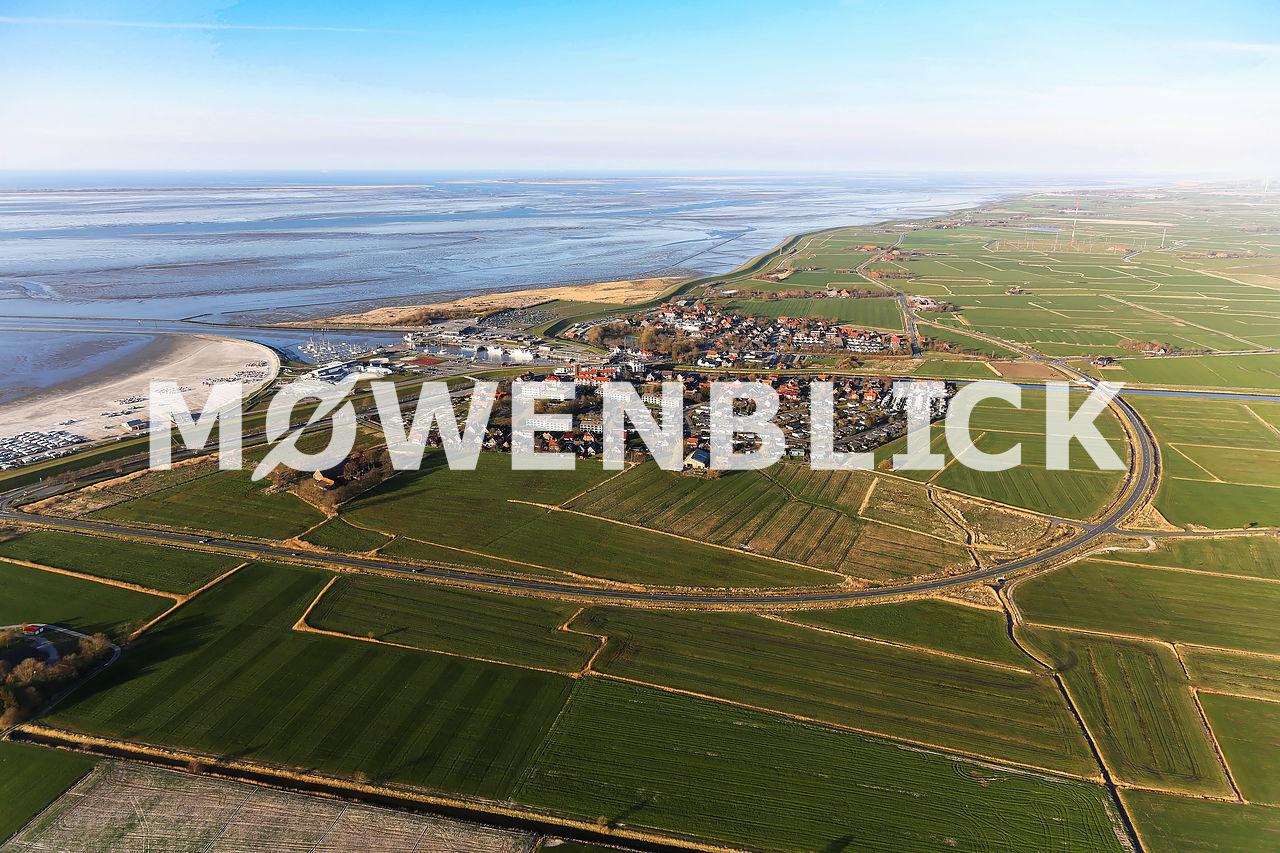 Ortsumfahrung Bensersiel Luftbild